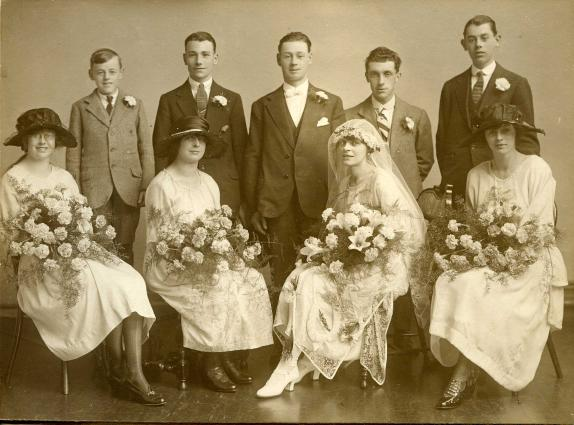 1922 Wedding of Henry Capewell and Gladys Cooper